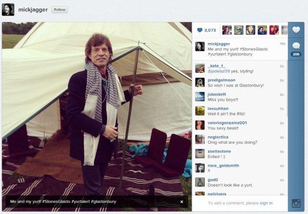 mick jagger instagram