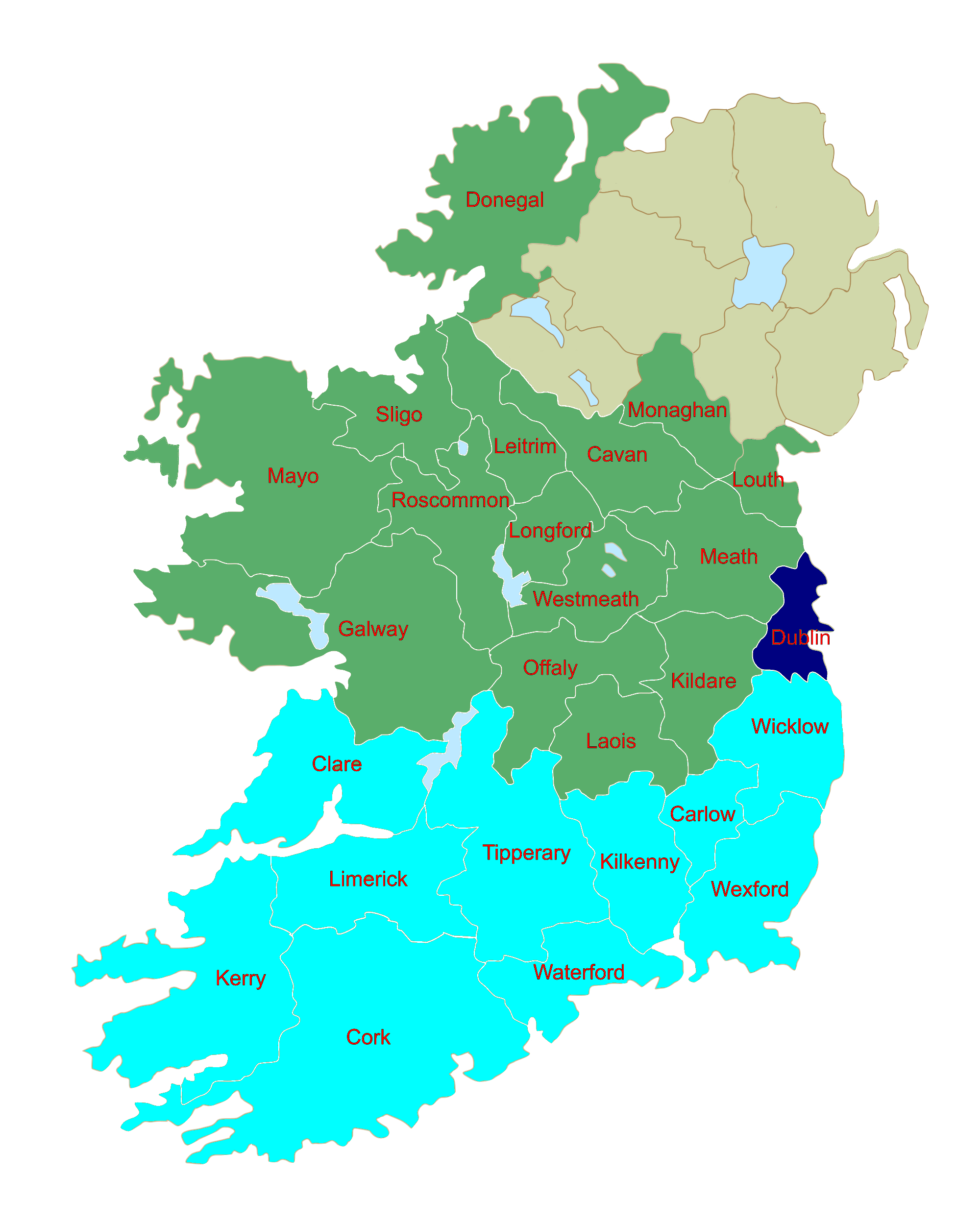Map Of Ireland Near Dublin.Dublin A Three Seater In Ireland S New Look European Constituency Map